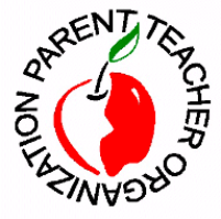 apple with words parent teacher organization around it