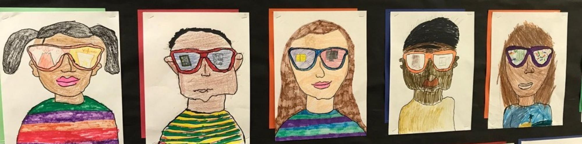 Student Art Self Portraits